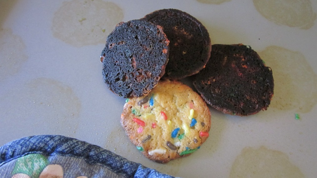 Burnt cookies